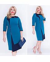 Женское нарядное платье больших размеров, ткань костюмка р-54,56,58,60