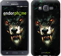"Чехол на Samsung Galaxy J7 J700H Дьявольский волк ""833c-101-6129"""