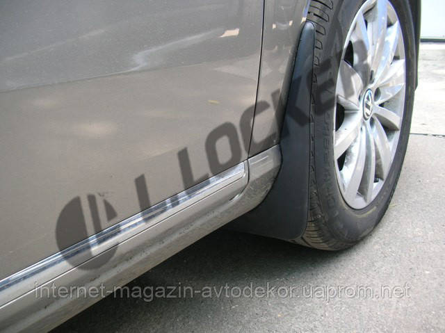 Брызговики Volkswagen Passat B7 2011- передние (Л.Локер)