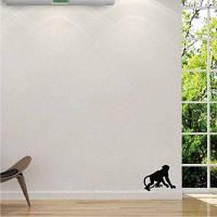 DSU джунглях обезьяны виниловые наклейки стены мультфильм животных силуэт стены наклейка для детской комнаты 12.4 x 15 cм