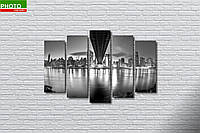 Картина модульная ночной город