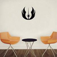 DSU Classic Movie Jedi Symbol Виниловая наклейка для стены / деколь Домашний декор 15x15cm