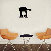 DSU Classic Movie Star Имперский AT-AT Oracal Walker Виниловая наклейка для стен для детей 15.2x12cм