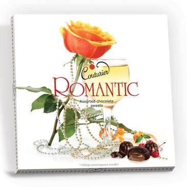 Наборов конфет Кутюрье «Romantic» (бокал) 360g, фото 2