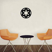 DSU Классический стикер стены Мультфильм Imperial logo Виниловая наклейка 15x15cm