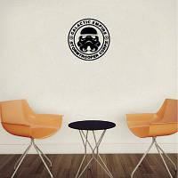 DSU Classic Stormtrooper Виниловая наклейка для стены Декоративная эмблема 15x15cm