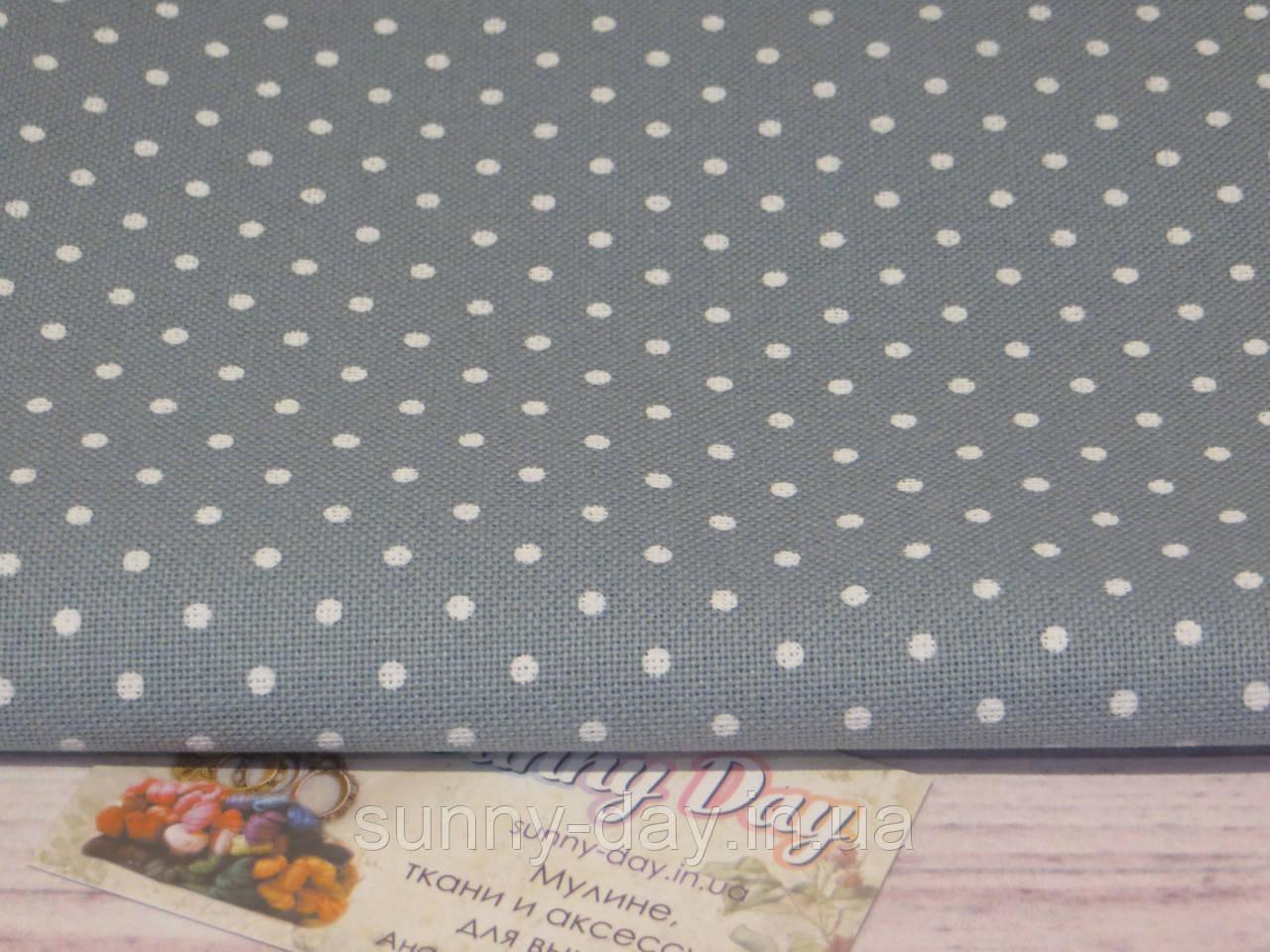 3984/5269, Murano Lugana, колір - Antique Blue & white dots (античний синій в білий горох), 32 ct
