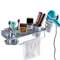 Пространство Алюминиевая электрическая вентиляторная стойка Ванная настенная полка для зубной щетки цветность оптимизатор