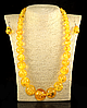 Набор из янтарной смолы желтый,на увеличение