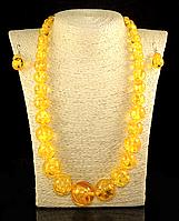 Набор из янтарной смолы желтый,на увеличение , фото 1