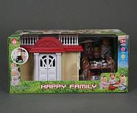 Животные флоксовые Happy Family 012-04 Домик (аналог Sylvanian Families)