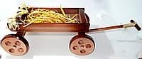 Декоративний дерев'яний віз