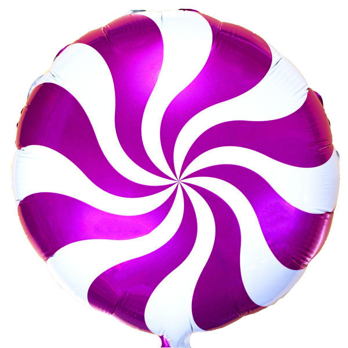 """Фольгированные шары с рисунком 18"""" конфета розовая FlexMetal"""