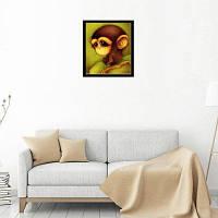 Naiyue 8532 Маленькая обезьяна Печать Ничья Алмазный рисунок Цветной