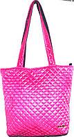Стеганная сумка из плотной ткани,водонепроницаемая(фуксия)30*35см