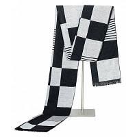 Мужской простой элегантный плащ теплый шарф черно-белый