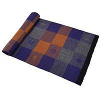 Мужской вязаный мягкий плащ Pattern случайный сплавленный шарф Пурпурно-синий