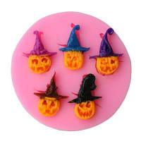 Лицевая сторона Хэллоуина тыквенная форма плесени формы силиконового плесени мыла помада свечи формы шоколадные формы силиконовые формы для тортов