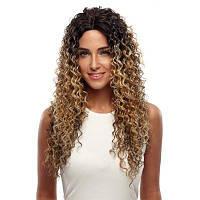 Ребекка Синтетические волосы длинный кружевной фронт кудрявый кудрявый парик Ombre 26 дюймов RC0663 26дюймов