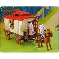 Животные флоксовые Happy Family 012-05 Повозка-домик (аналог Sylvanian Families)