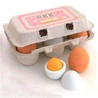 Деревянные игрушки для кухни для детей Дети Приготовление пищи Пищевые яйца разные цвета