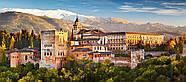 "Пазлы панорамные касторленд на 600 элементов - ""Вид на Альгамбру"". Быстрая доставка., фото 2"