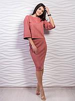 Оригинальный и стильный костюм-двойка:юбка+кофточка. С,M, L