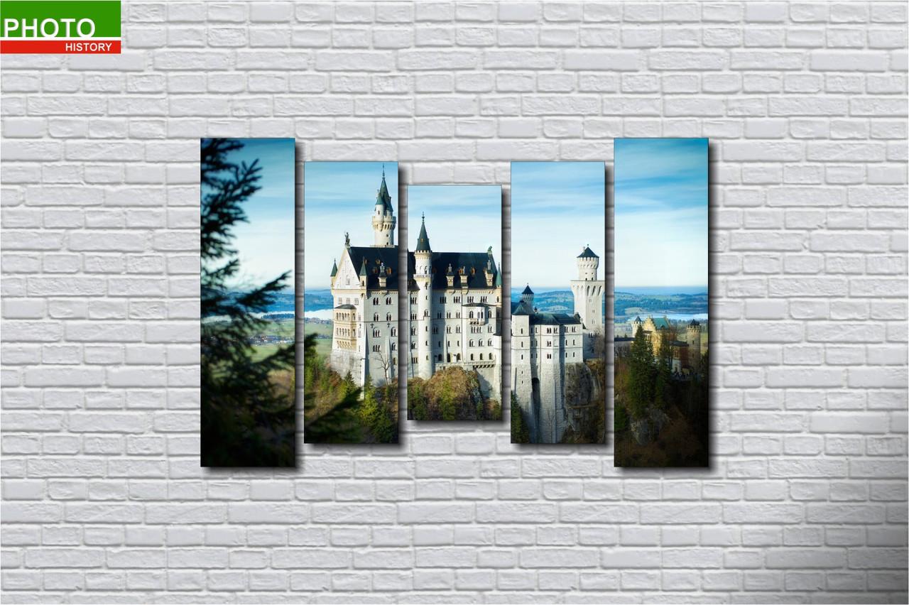 Картина модульная замок
