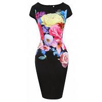 Горячие европейские и американские женские модные принтеры для шитья с эластичным пакетом Hip Pencils Dress XL
