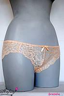 Шортики с красивым и нежным кружевом - персик L, M, XL