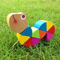 Деревянная красочная игрушка для насекомых с витыми червями Caterpillar 1 шт. Разноцветный