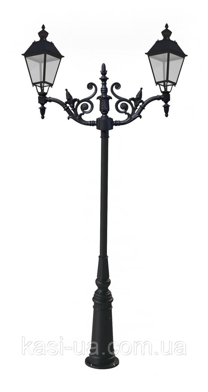 Чугунная опора (фонарь уличный) уличного освещения №6