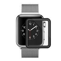 Закаленное стекло для Apple Watch 38mm Series 3D Full Cover Изогнутый черный экранный протектор Чёрный