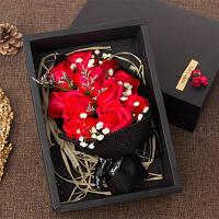 11 шт Валентина День подарков Мыло Роза цветы в коробке - Красный
