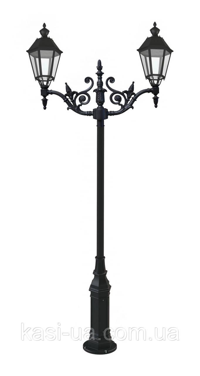 Чугунная опора (фонарь уличный) уличного освещения №7
