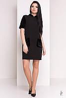 Трикотажное женское платье Одет-1 из трикотажа и велюра