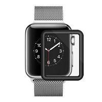 Закаленное стекло для Apple Watch 42mm Series 3D Full Cover Curved Black Edge Screen Protector Чёрный