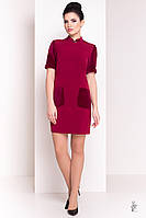 Трикотажное женское платье Одет-3 из трикотажа и велюра