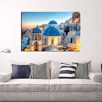 Печать на холсте YHHP Средиземноморский архитектурный декор для домашнего декора для домашнего украшения 50 x 70cm