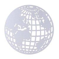 Скрапбукинг Металлические режущие головки Земной шар DIY Фотоальбом Декоративный Серебристый