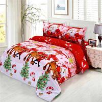 Веселого Рождества Санта-Клауса 3D печатных постельных принадлежностей одеяла обложка случае подушки 4PCS сдвоенный