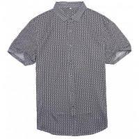 Плед Бизнес повседневная рубашка светло-серый XL