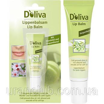 D'OLIVA Бальзам для губ с маслом авокадо, жожоба и сладкого миндаля, 7 мл