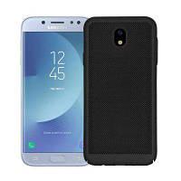Теплоотдача Ультратонкая матовая задняя крышка Твердый цветной жесткий корпус для Samsung Galaxy J5 Pro / J5 (2017) Чёрный
