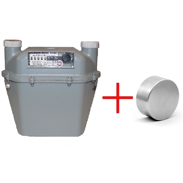 Как остановить газовый счетчик магнитом фото