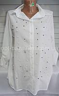 Рубашки женские оптом купить со склада в Одессе 7 км -креп, (S-L)