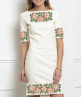 f9f508be3b1e0d Заготовка жіночого плаття чи сукні для вишивки та вишивання бісером Бисерок  «Шипшина» (П