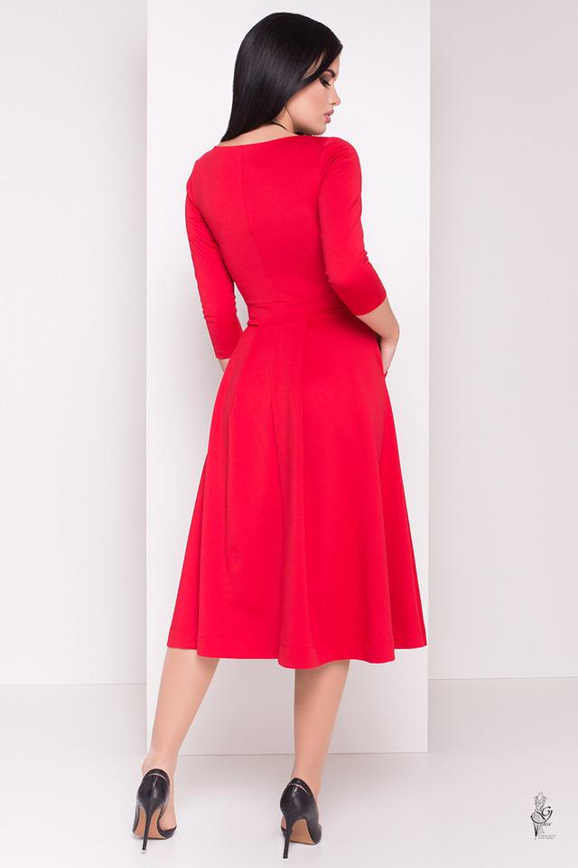 Фото-1 Трикотажного платья миди с юбкой солнце Сюзет-3