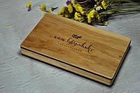 Деревянный футляр для свадебных фотографий с флешкой на магнитах 160*110*18 , фото 1