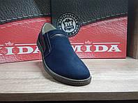 Туфли мужские из натурального нубука  МИДА 11951